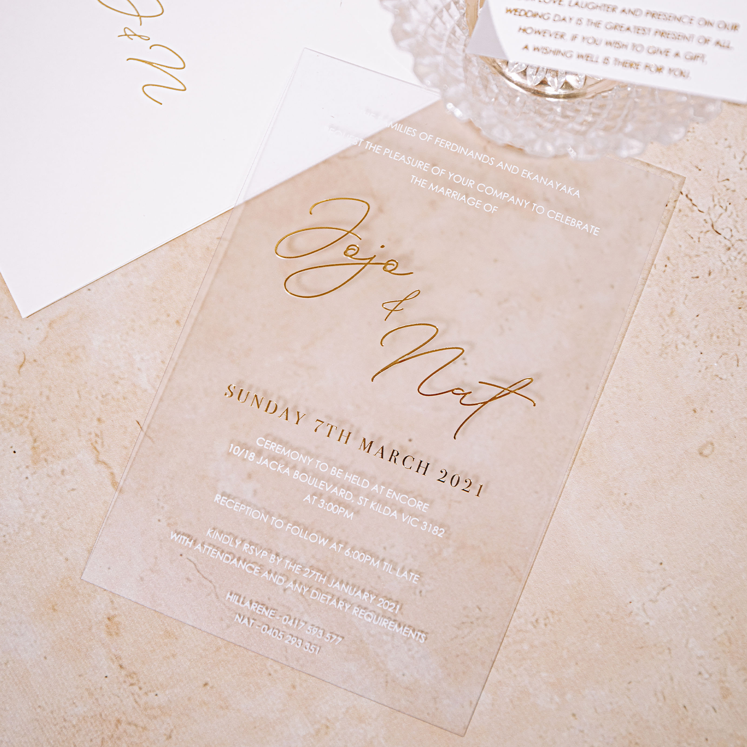Acrylic Look (Acetate) Invitations