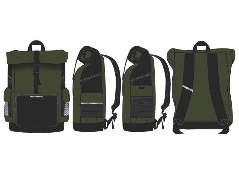 Green RollTop Backpack  Men's Green Backpack