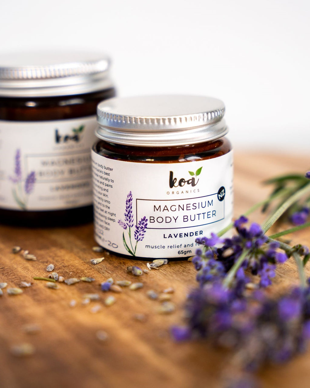 Organic Magnesium Body Butter with Lavender for relaxed muscles and sleep