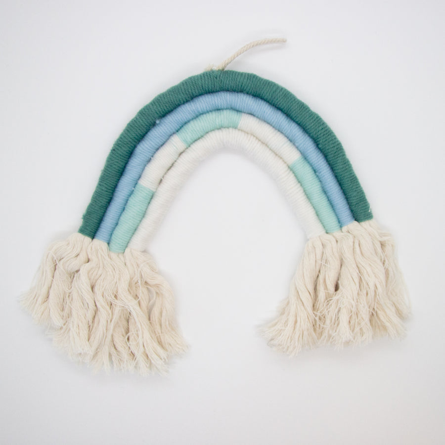 Rainbow Wall Hanging - Teal