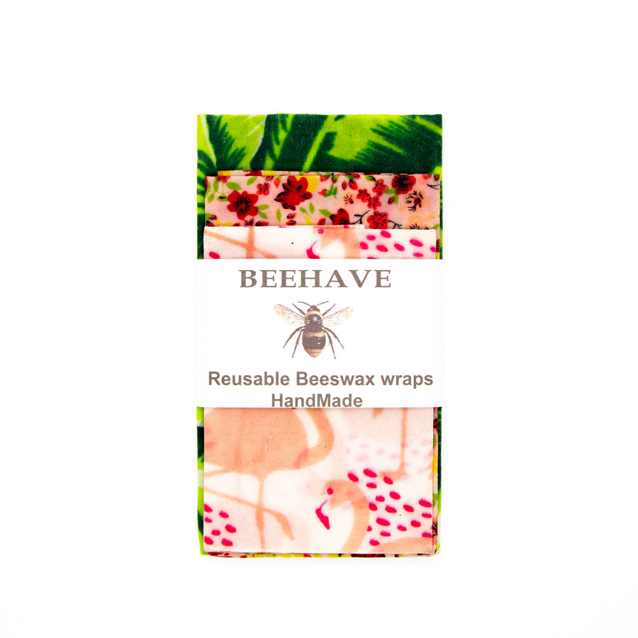 Beehave Beeswax Wraps - set of 3