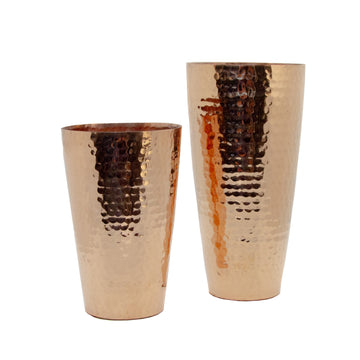 Hammered Copper Lassi Cup Small