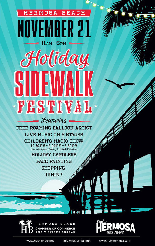 Sidewalk Sale Nov 21st & 22nd on Pier Ave -50% off Racks and Sample Sale!