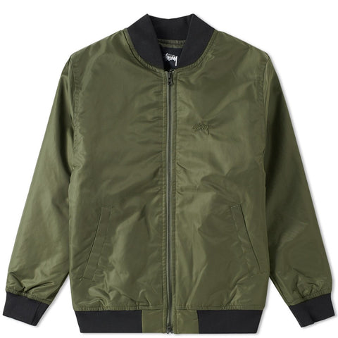 STUSSY, STUSSY MENS FLIGHT SATIN BOM JACKET, [description] - Spyder Surf