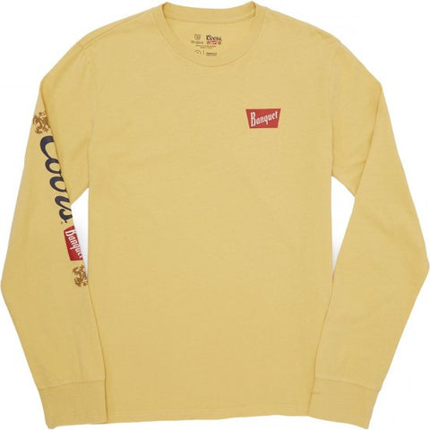 BRIXTON X COORS PRIMARY BANQUET LONG SLEEVE TEE