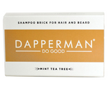 DAPPERMAN ORGANIC SHAMPOO BRICK FOR HEAD HEAD AND BEARD - MINT TEA TREE