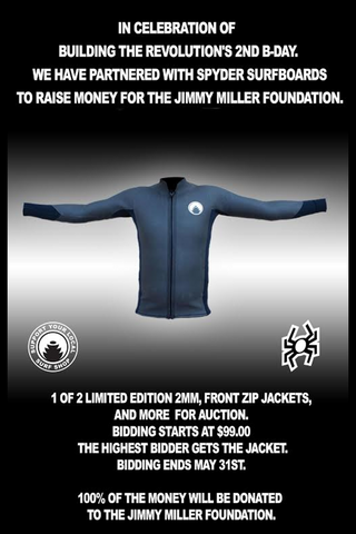 Limited Edition BTR Front Zip Jacket - Auction for Jimmy Miller Foundation