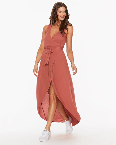 L SPACE TWILIGHT WRAP DRESS