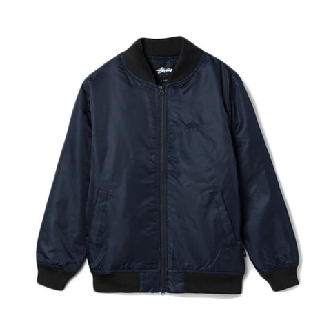 STUSSY STUSSY MENS FLIGHT SATIN BOM JACKET <span>Bomber fit long sleeve jacket<br>Satin fabric<br>Embroidered logo<br>Full zip placket<br>100% polyester<br>Importedk.</span>