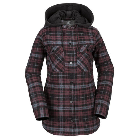 VOLCOM CLOTHING HOODED FLANNEL J H0251904