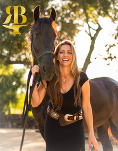Rusty Brown Shines On Leah Clarke Fisher - Cowgirl Magazine Article