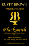 Blacksmith, Aftershave Lotion - Rusty Brown Jewelry