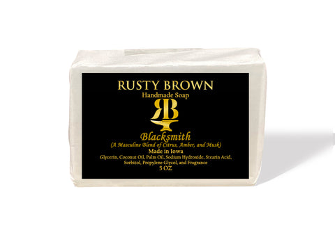 Blacksmith, Soap - 5 OZ - Rusty Brown Jewelry