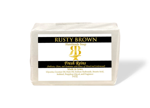 Fresh Reins, Soap - 5 OZ - Rusty Brown Jewelry