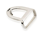 English Stirrup Belt Buckle, Sterling Silver - Rusty Brown
