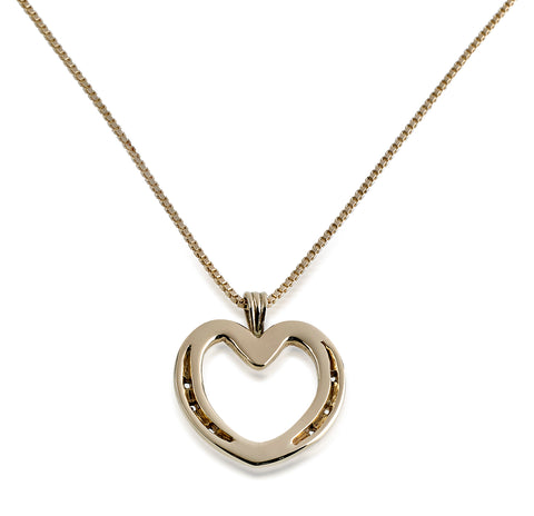 Shoe Heart Necklace, 14k Gold - Rusty Brown