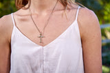 Nail Cross Necklace, 14k Gold - Rusty Brown Jewelry