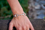 Snaffle Bit Bracelet, Sterling Silver - Rusty Brown