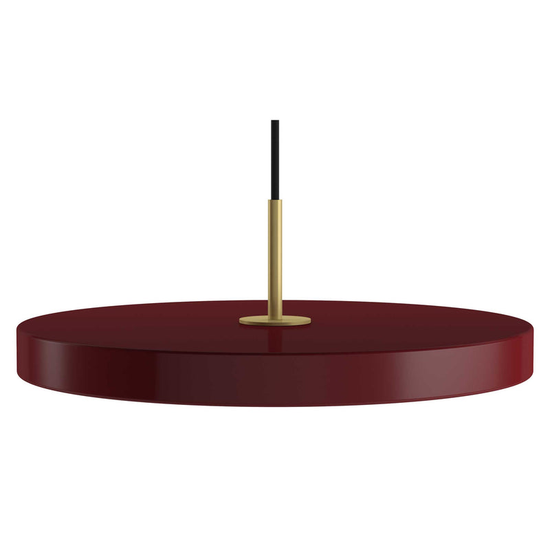 Ruby Red taklampa i diskusform med integrerade LED-lampor
