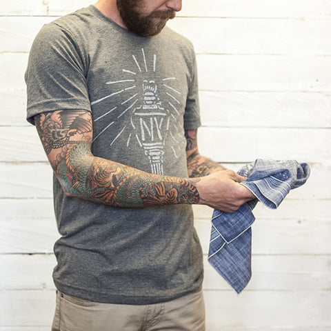 Blue Chambray Bandana