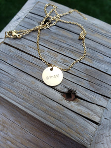 God is greater than the highs and lows circle charm necklace