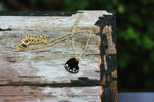 Hanging heart charm necklace