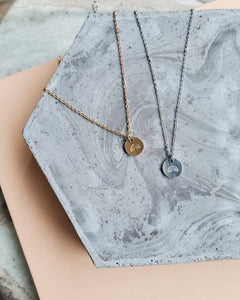 Circle charm necklace (stainless steel)