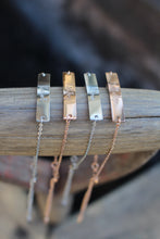 Small bar bracelet (plated stainless steel)
