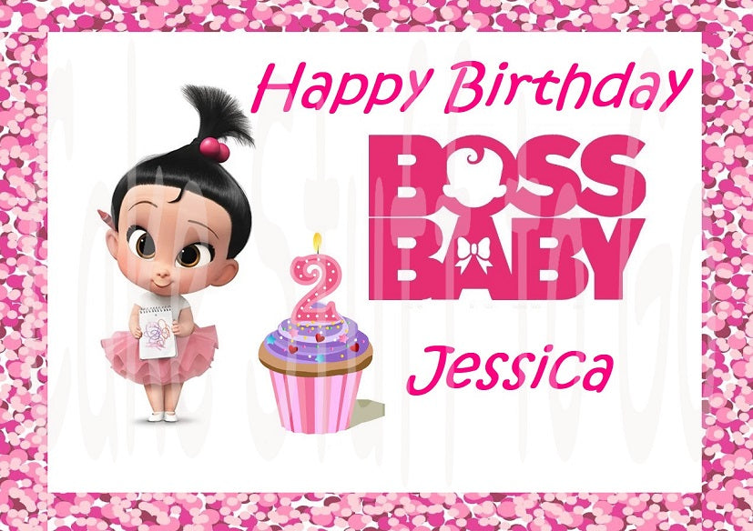 Boss Baby Girl Staci Edible Cake Topper Image