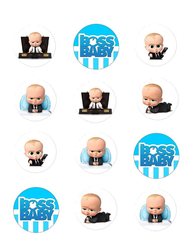 Boss Baby Edible Cupcake Toppers Image