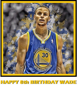 Steph Curry Golden State Warriors Edible Cake Topper Decoration Cake Stuff To Go