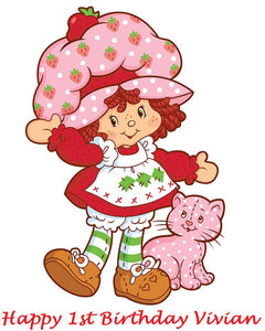 Amazing Strawberry Shortcake Edible Cake Topper Decoration Original Cake Funny Birthday Cards Online Elaedamsfinfo