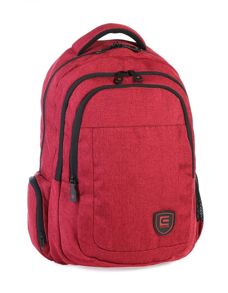 Cellini Uni Multi Pocket Backpack Red