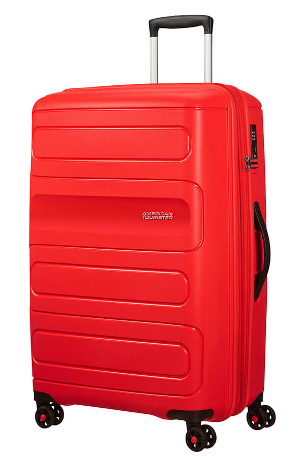 American Tourister Sunside Spinner Expandable 77cm Sunset Red