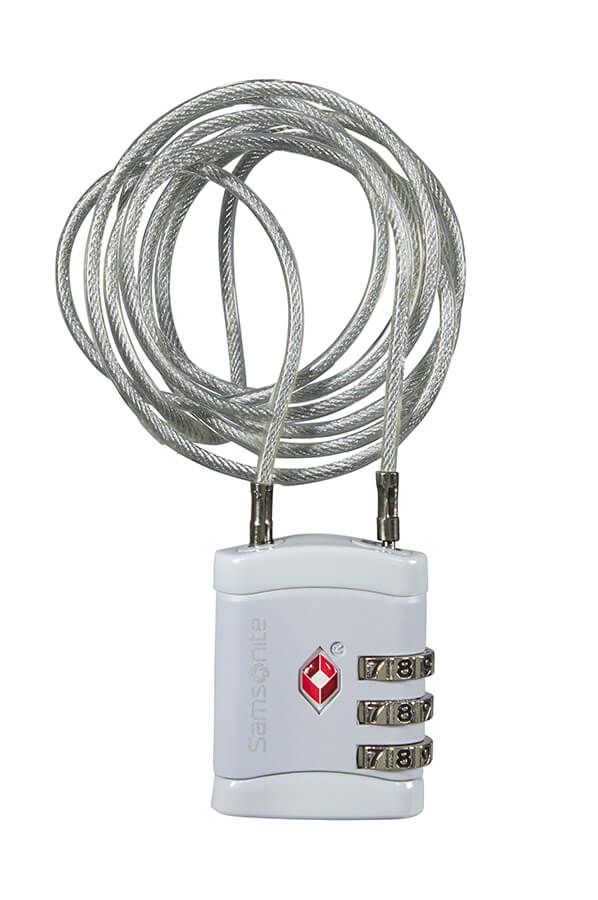 Samsonite Long TSA Cable Lock White