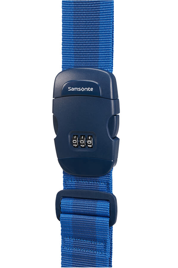 Samsonite Luggage Strap With Lock Blue