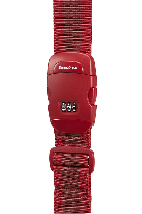 Samsonite Luggage Strap With Lock Red