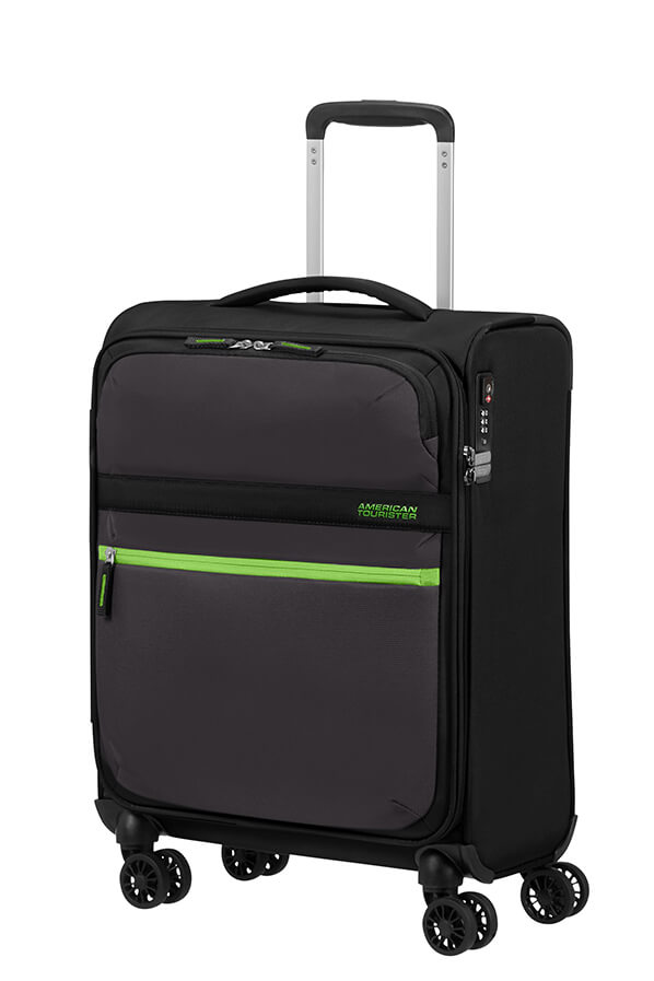 American Tourister Matchup 55cm Spinner Neon Black