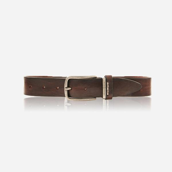 Jekyll And Hide Nevada Men's Belt Stich Size 40 Brown