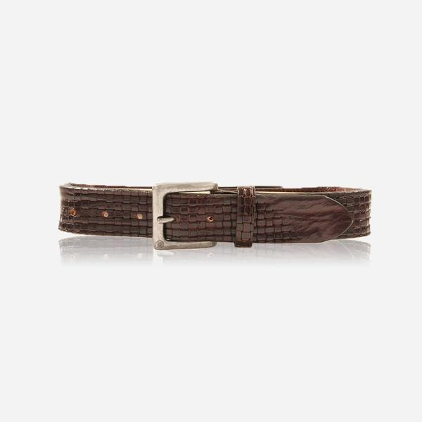 Jekyll And Hide Escape Treccia Men's Belt Size 38 Brown