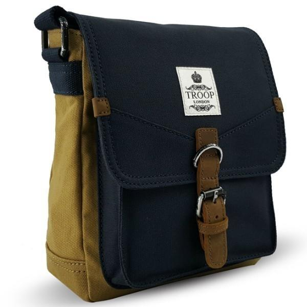 Troop London Vertical Reporter Bag Navy/Mustard