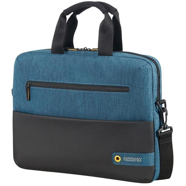 American Tourister City Drift Laptop Bag 13.3-14.1inch Black/Blue