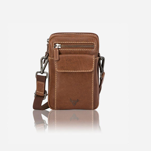 Brando Vintage Edge Crossbody Travel Bag Tan