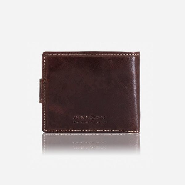 Jekyll And Hide Oxford Billfold Wallet With Coin And ID Window Coffee