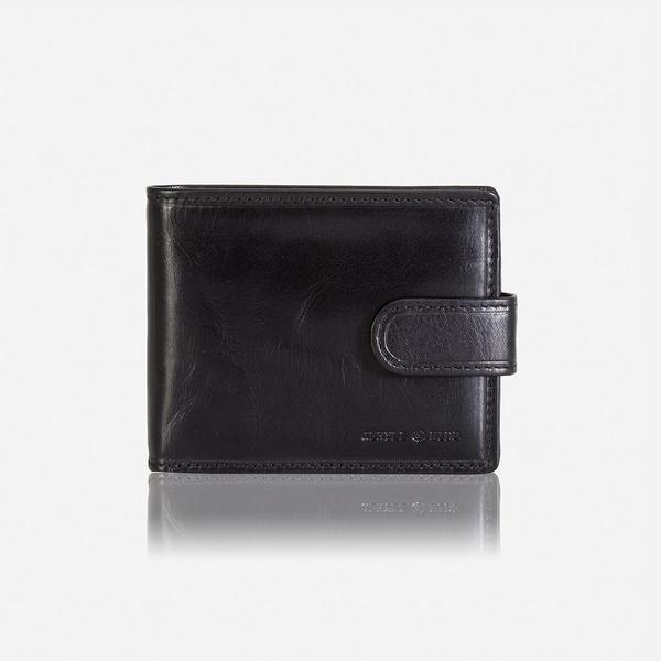 Jekyll And Hide Oxford Billfold Wallet With Coin And Tab Closure Black