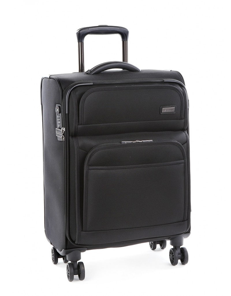 Cellini Lusso 55cm Carry On Spinner Black