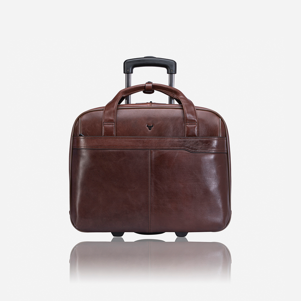 Brando Alpine Laptop Trolley / Overnight Bag Brown