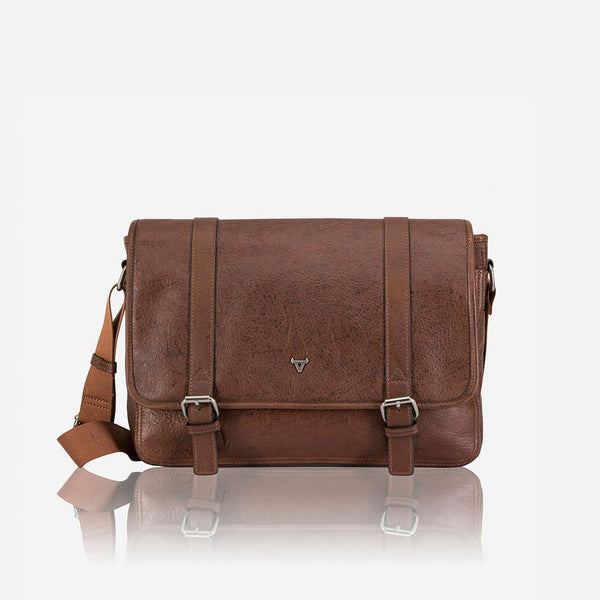 "Brando Oryx 13"" Messenger Bag Brown"