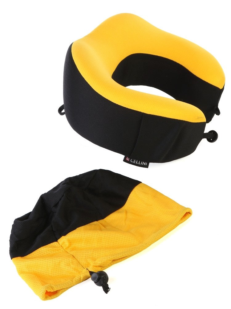 Cellini Foldable Travel Pillow Yellow