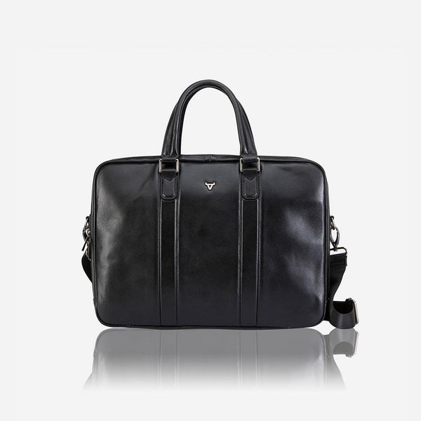 "Brando Cassidy 15"" Slim Laptop Briefcase Black"